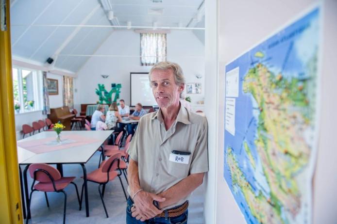 Rob Hulshuizen tijdens de open dag die de stichting in augustus hield in Driel.