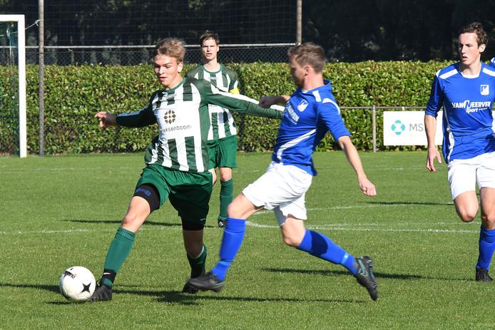 DSV-spits Stijn van den Broek te zien in een eerder duel. Archieffoto.