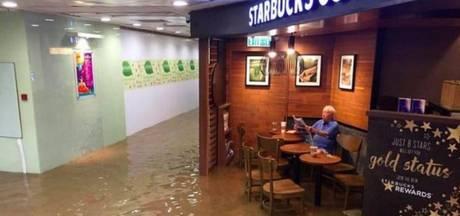Chinese man in overstroomde Starbucks verovert het internet