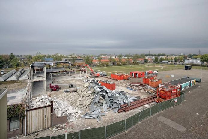 De oude Veenendaalhal werd vorige maand gesloopt. Foto Herman Stöver