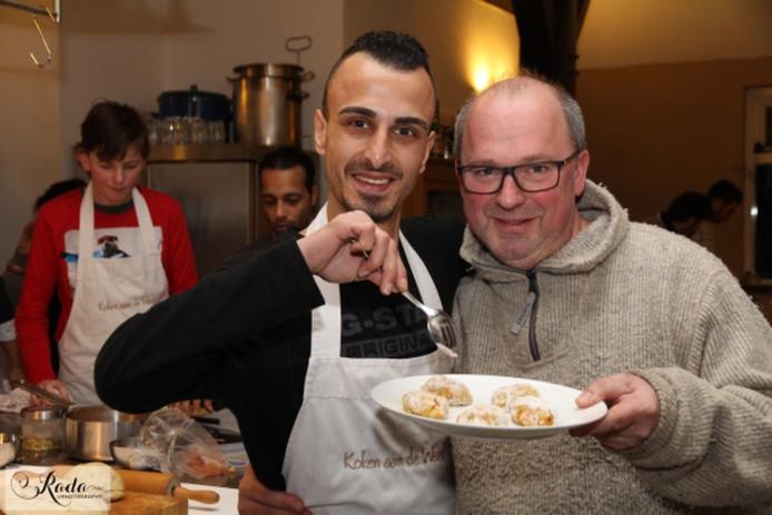 Khaled Ziar (links) samen met Rob Beernink.