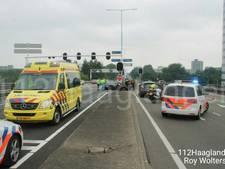 Oprit A12 dicht door ongeval op de Zuidweg
