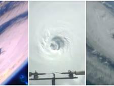 Spectaculair: ruimtestation filmt op één dag drie orkanen