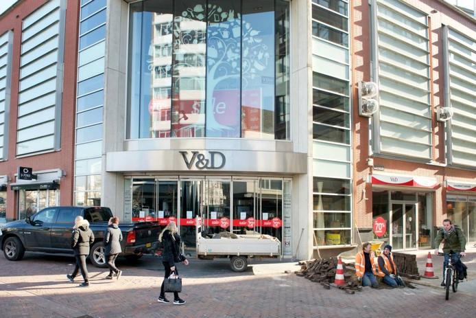 Het pand van de voormalige V&D in Arnhem.