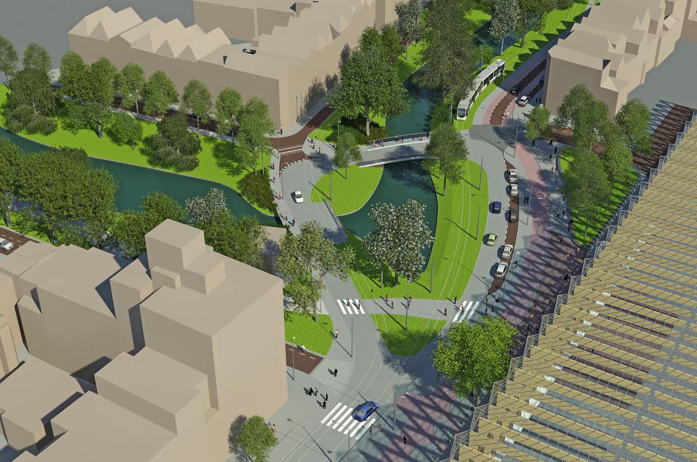 Stad knoopt singels aan elkaar op proveniersplein foto - Groen behang van het water ...