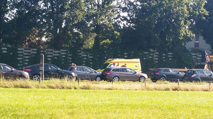 De betrokken auto's bij de botsing.