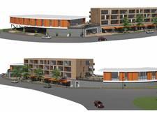 Huizen en restaurants op parkeerplaats CineMec