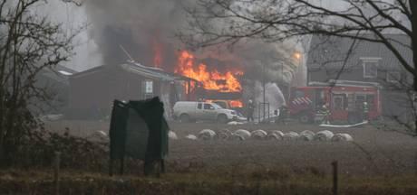 Gewonde bij felle brand in schuur Sint Anthonis