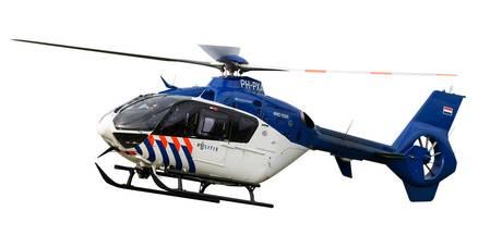 Politieheli zoekt naar inbreker in Barneveld