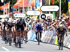 Van Poppel tweede in eerste etappe Tour Down Under, Ewan wint