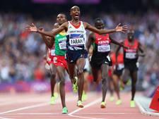 Stukje van atletiekbaan Londen te koop