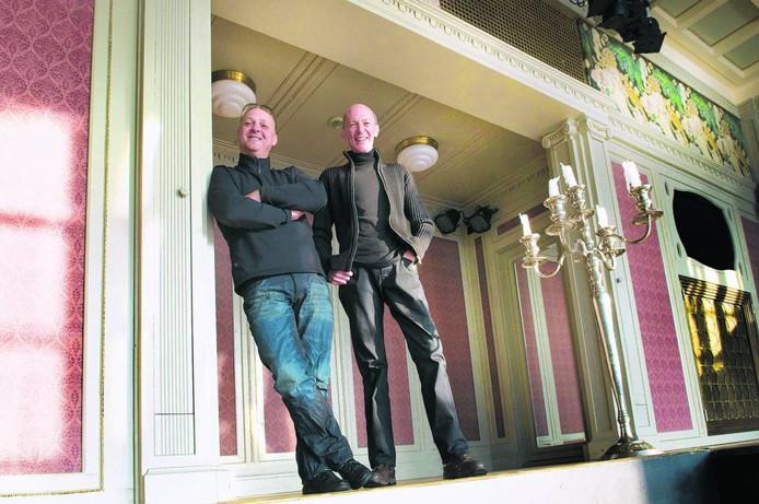Jan Damen (rechts), met zijn broer Peter gefotografeerd in Luxor Live in 2010. Foto Marina Popova