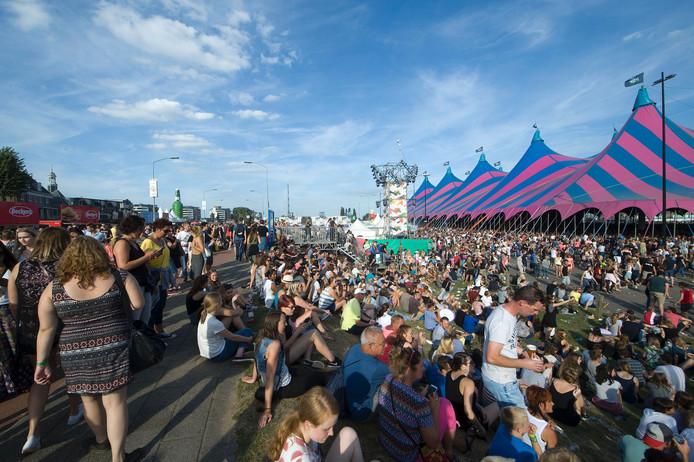 Het festivalterrein van Appelpop.