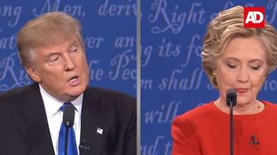 Confrontaties Clinton en Trump in beeld