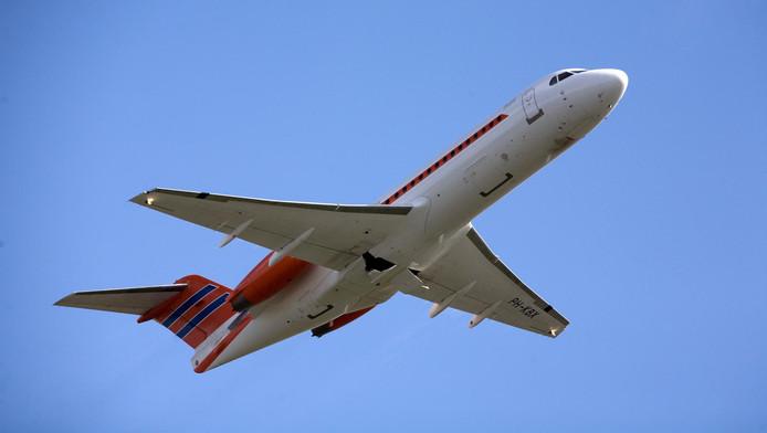 De Fokker 70 PH KBX die dient als het Nederlandse regeringstoestel