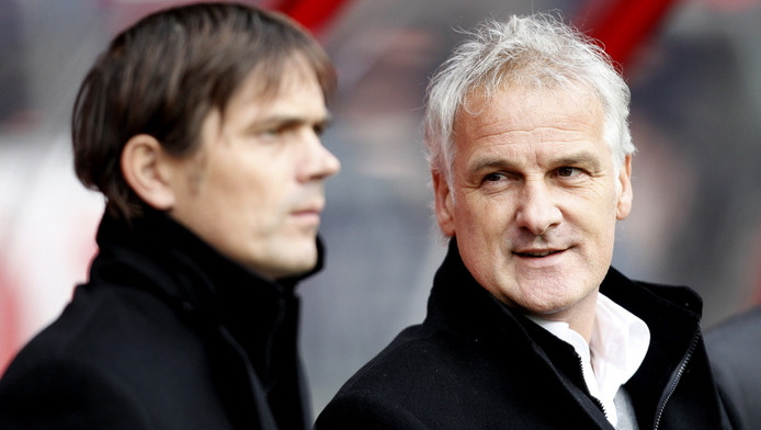 Phillip Cocu (links) en Fred Rutten. © PRO SHOTS