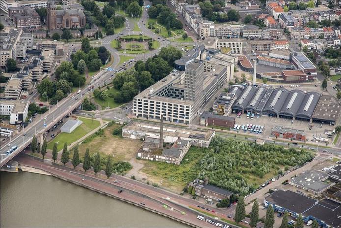 Het voormalige Coberco-terrein bij de John Frostbrug in Arnhem.