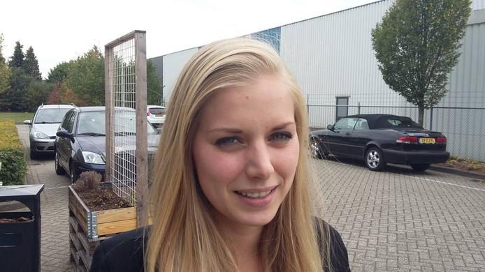 Leanne, leerling van Mijn School en mede-organisator van de conferentie. Zij had schulden maar heeft de boel nu financieel op de rails.