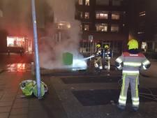 Ondergrondse container in Malden in brand gezet