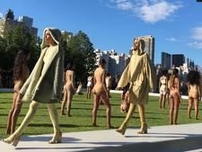 Modellen onwel bij 'schandelijke' modeshow Kanye West