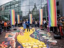 Lopen over 3D-Yellow Brick Road bij Van Goghmuseum