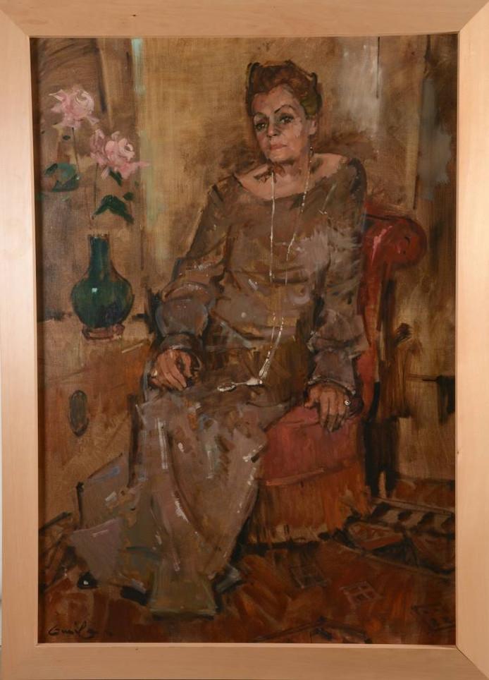 Het schilderij van actrice Elise Hoomans. Foto: Veilinghuis Arnhem