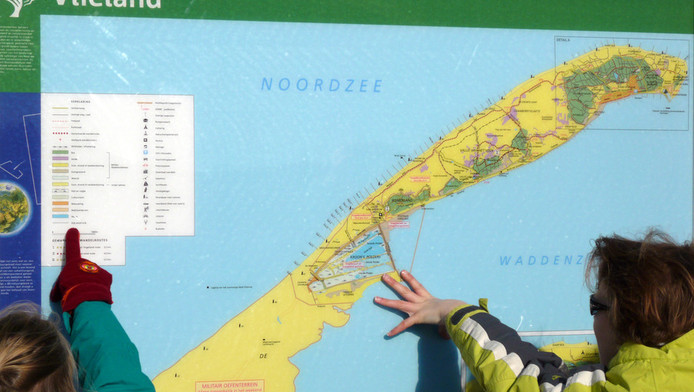 Kaart van Vlieland.