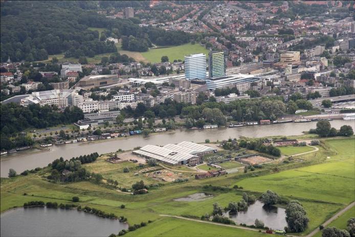 Meinerswijk, met in het noorden het bedrijventerrein dat plaats zou moeten maken voor woningen.