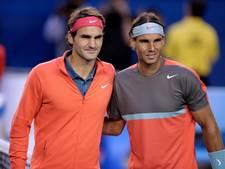 Voor het eerst sinds 2015 kwartfinale Grand Slam met Nadal én Federer