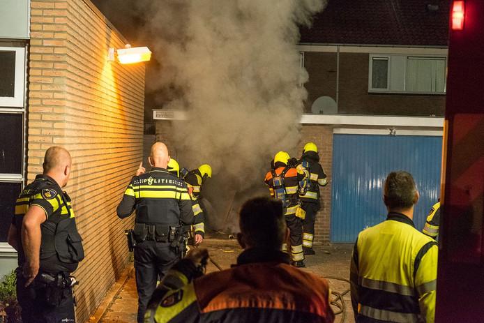 De brand bij de garagebox.