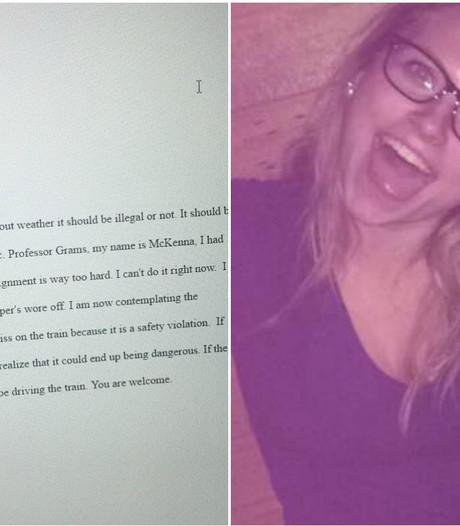 Bezopen studente scoort op Twitter met huiswerk per mail