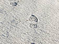 Volgen voetstappen in de sneeuw leidt politie naar verdachte in Borculo