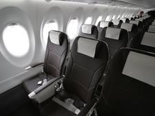 Nieuw vliegtuig met extra zitruimte voor zwaargewicht