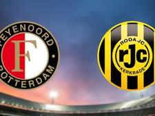 Koploper Feyenoord ontvangt Roda JC