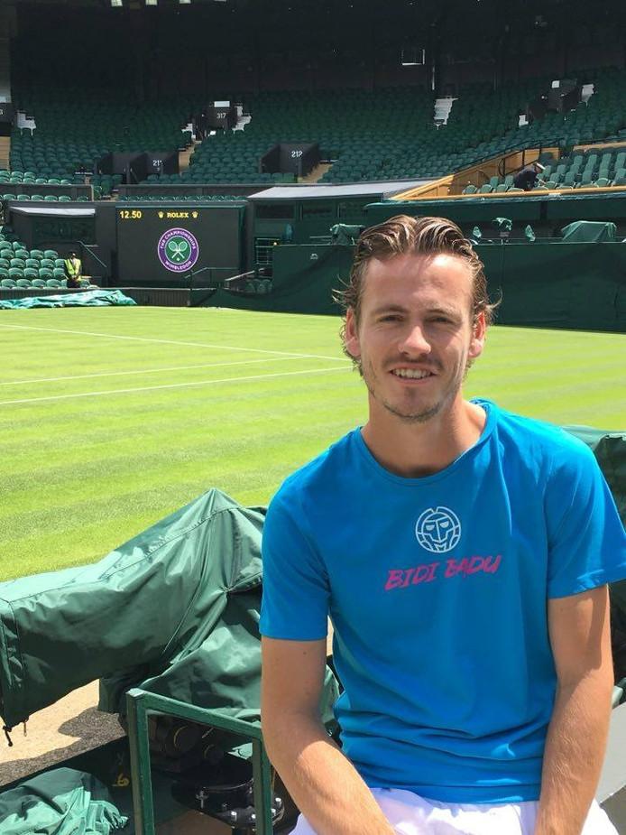 Wesley Koolhof op de tenniscourt.