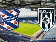 Heracles en Heerenveen tegenover elkaar in Friesland