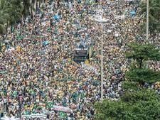 Massa's demonstreren in Brazilië tegen corruptie
