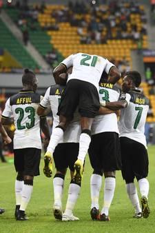 Ghana begint Afrika Cup met krappe zege op Oeganda