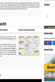 'Tour start weer in Utrecht'