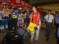 Warm onthaal in Peking voor Chinese olympiërs