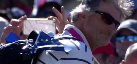 Vader van Thomas Pieters 'vangt' bal bij Ryder Cup met rugzak