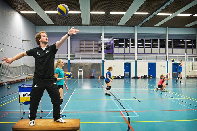 Coach Bram Leijssenaar van Vocasa. Archieffoto Bert Beelen