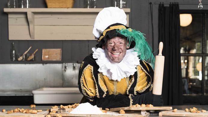 Roetpiet in de keuken van het kasteel van Sinterklaas.