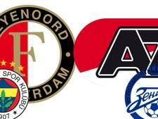 Polls: Gaan AZ en Feyenoord het redden in Europa?