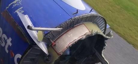Passagier maakt foto van 'ontplofte' vliegtuigmotor