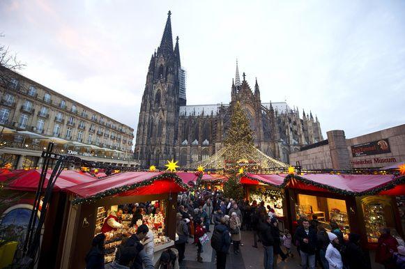 De kerstmarkt in Keulen.