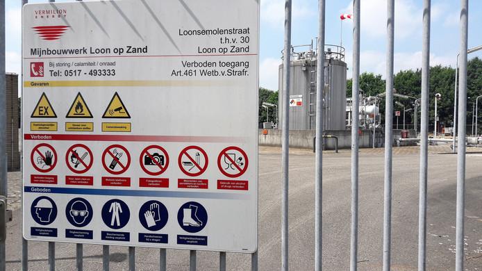 De gaswinningslocatie van Vermilion in Loon op Zand.