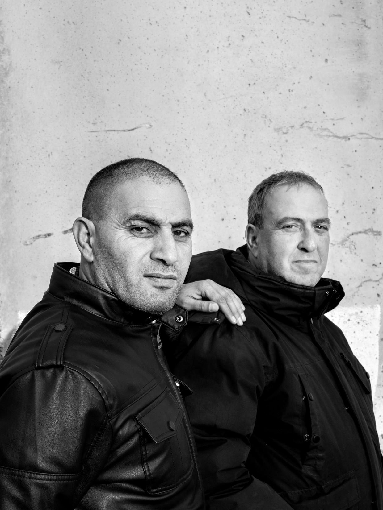 Bassam Aramin en Rami Elhanan. Beeld Oded Balilty / AP