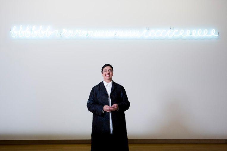 Beatrix Ruf in het Stedelijk Museum in 2014. Beeld null