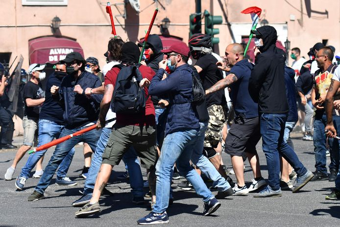 Demonstranten in Rome.